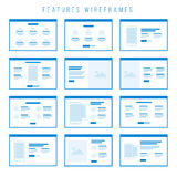 Funktionen Wireframe-Komponenten für Prototypen Stockfotografie