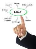 Funktioner av CRM royaltyfri bild