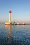 Funktionierender Leuchtturm in Odessa ukraine Lizenzfreie Stockbilder