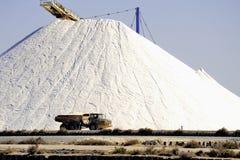 Funktionierendes Salz salziges Aigues-Mortes des Standorts See Stockbild