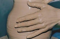 Funktionsduglig lera för keramiker Fotografering för Bildbyråer