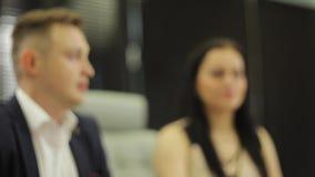 Funktionsduglig process på affärsmötet stock video
