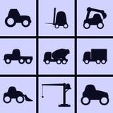 Funktionsdugliga transportsymboler royaltyfri illustrationer