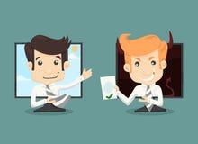 Funktionsdugligt begrepp för affärsmaninternet, trådlös kommunikation vektor illustrationer