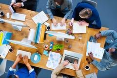 Funktionsdugligt kontor företags Team Concept för affärsfolk Royaltyfria Bilder