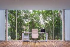 Funktionsdugligt rum för modern stil Arkivbild