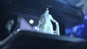 funktionsdugligt slut f?r skrivare 3D upp Den automatiska tredimensionella skrivaren 3d utf?r plast- Modern utskrift f?r skrivare arkivfilmer
