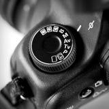 Funktionsknapp för fotografisk kamera Arkivfoton