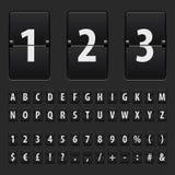 Funktionskortbokstäver, nummer och symboler för Flip svarta vektor illustrationer