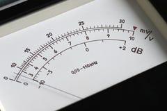 Funktionskortet och vippströmbrytaren av en parallell punktmeter som mäter makt och spänning Royaltyfria Foton