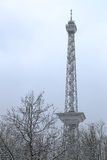 Funkturm Berlin (Berlin radio tower) in winter Royalty Free Stock Images