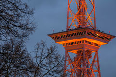 The funkturm berlin germany in the evening Royalty Free Stock Photo