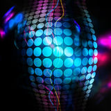 Funky 3D Background. Abstract background with glowing circles and colorful accents Stock Photos