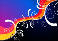 Funky Abstract Background. A  abstract floral background Stock Images