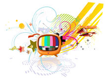 Funky abstract background. Vector illustration of funky abstract background with cool retro TV Royalty Free Stock Photo