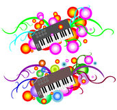 Funky Abstract  Music Keyboard Stock Image