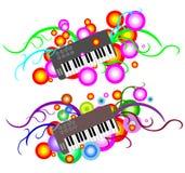 Funky Abstracte Toetsenbord van de Muziek Stock Afbeelding