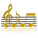 Funky Achtergrond van de Muziek Stock Foto's