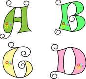 Funky alfabet Stock Afbeeldingen