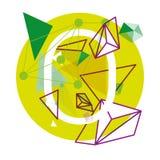 Funky Alfabet Vectorillustratie Stock Foto