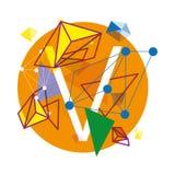 Funky Alfabet Vectorillustratie Royalty-vrije Stock Afbeelding