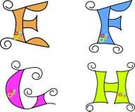 Funky alphabet, vector, EPS 8, illustration   Royalty Free Stock Image