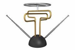 Funky antenne van TV stock illustratie