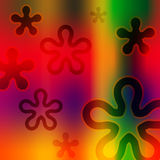 Funky Background. Abstract funky retro 70's background Royalty Free Stock Photography