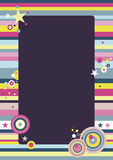 Funky Background. Colorful vector background created in a hip, trendy style. A4 proportions Stock Photos