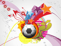Funky background with football Royalty Free Stock Images