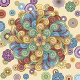 Funky Background with Swirls stock illustration