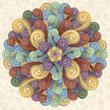 Funky Background. Vector background with abstract flowers and swirls. EPS 8 Royalty Free Stock Photos