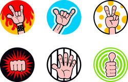 funky badges Royalty Free Stock Photos