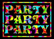 Funky Banner van de Partij Royalty-vrije Stock Foto's