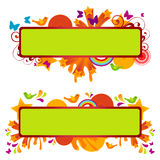Funky Banners. Set. Vector illustration Royalty Free Stock Image