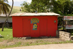 A funky bar on bequia Stock Photo