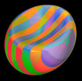 Funky beach ball. 3d rendered image of a partially deflated beach ball Royalty Free Stock Photos