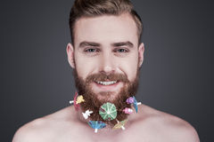 Funky beard. Royalty Free Stock Images