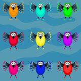 Funky birds Stock Image