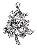 Tribal Christmas Tree royalty free illustration