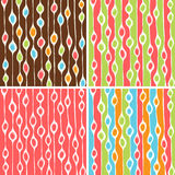 Funky blobs pattern set. Vector abstract colorful background with funky blobs pattern royalty free illustration