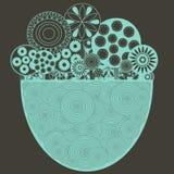 Funky bloemenachtergrond Stock Afbeeldingen