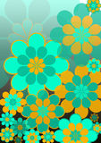 Funky blue flowers royalty free stock images