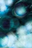 Funky blue light effect background stock illustration
