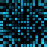 Funky Blue Pixels Stock Photography