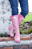 Funky Boots on wall Royalty Free Stock Images