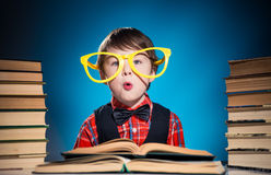 Funky boy reader Royalty Free Stock Photo