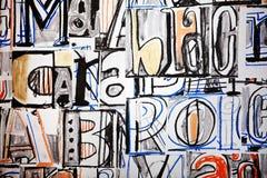 Funky brievengraffiti Royalty-vrije Stock Afbeeldingen