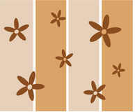 Funky brown retro flowers Royalty Free Stock Photography