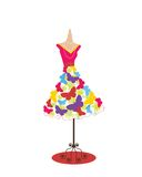 Funky butterfly Dress  Royalty Free Stock Photo